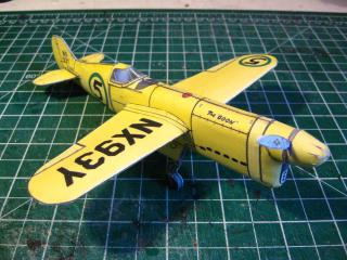 paper model of Chester Goon airplane
