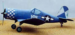 Vought Corsair F4U paper model airplane