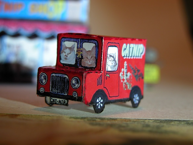Catnip Van paper model