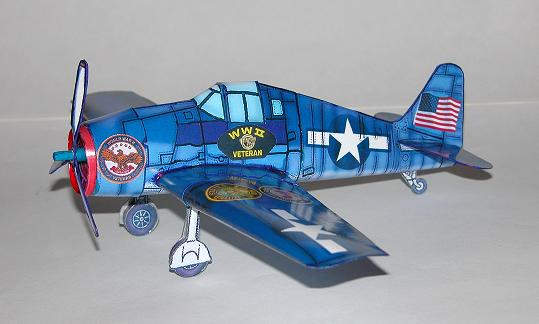 Pearl Harbor Day Hellcat paper model